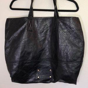 Juicy Couture extra large black purse 💯 leather